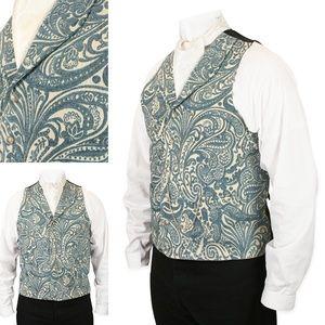 Delacourt Tapestry Vest - Powder Blue